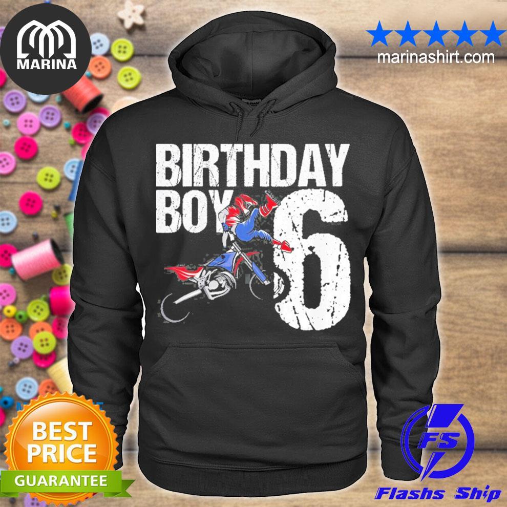 6 years old dirt bike birthday party motocross mx 6th gift s unisex hoodie