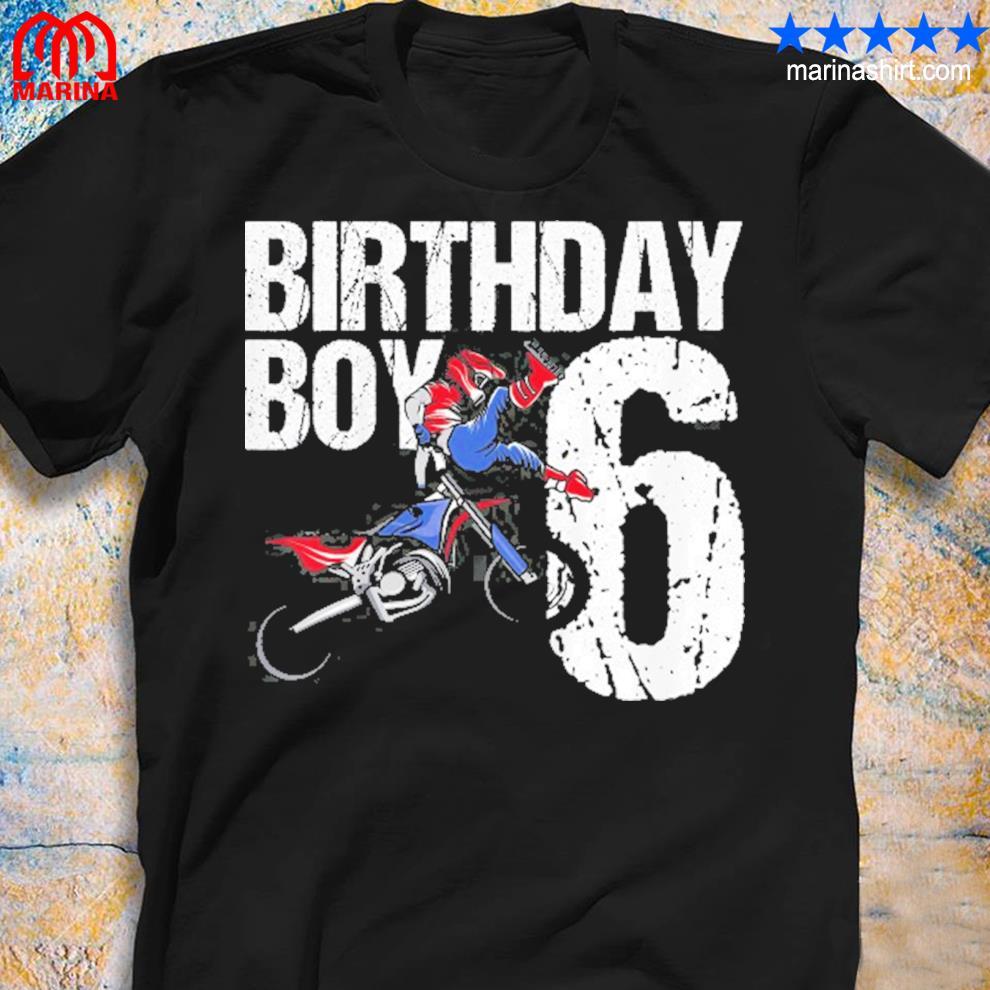 6 years old dirt bike birthday party motocross mx 6th gift shirt