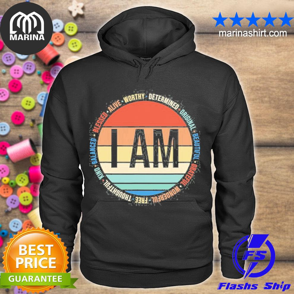 70s retro positive affirmations self care gift mental health s unisex hoodie