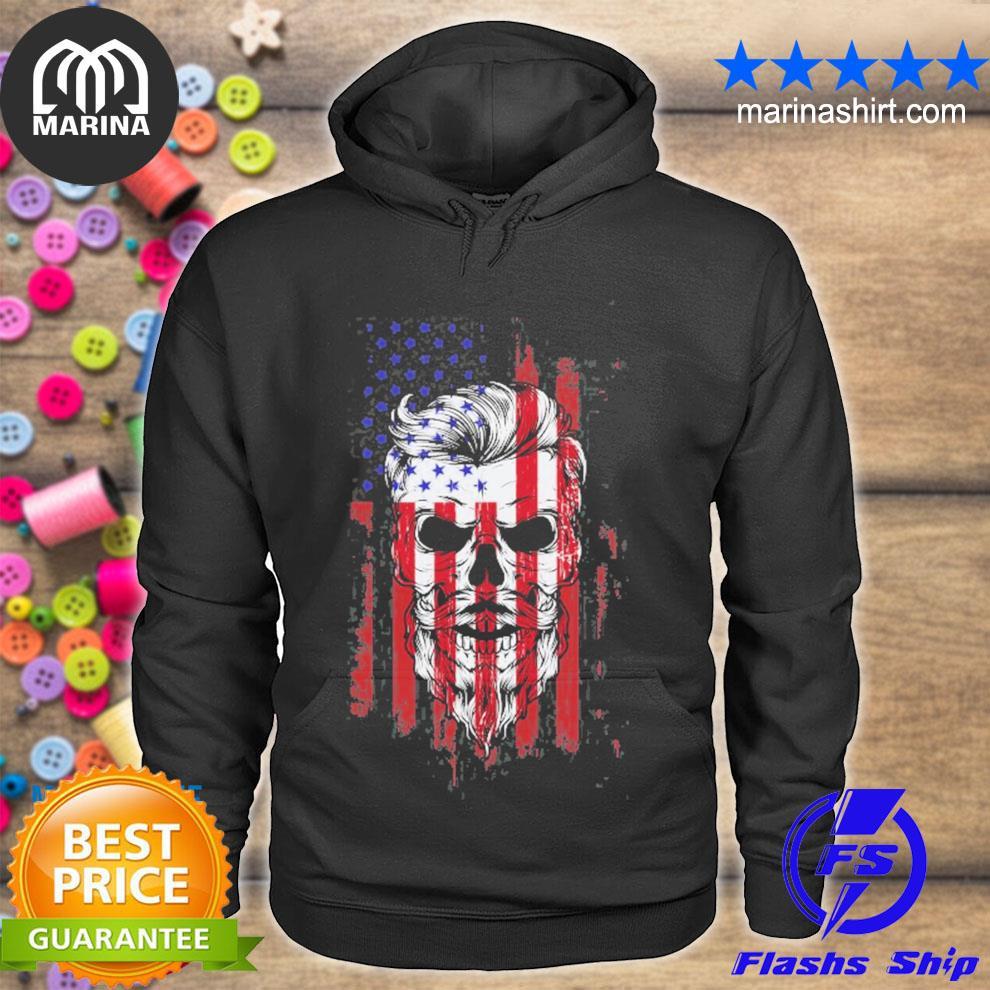 American beard skull men's s unisex hoodie