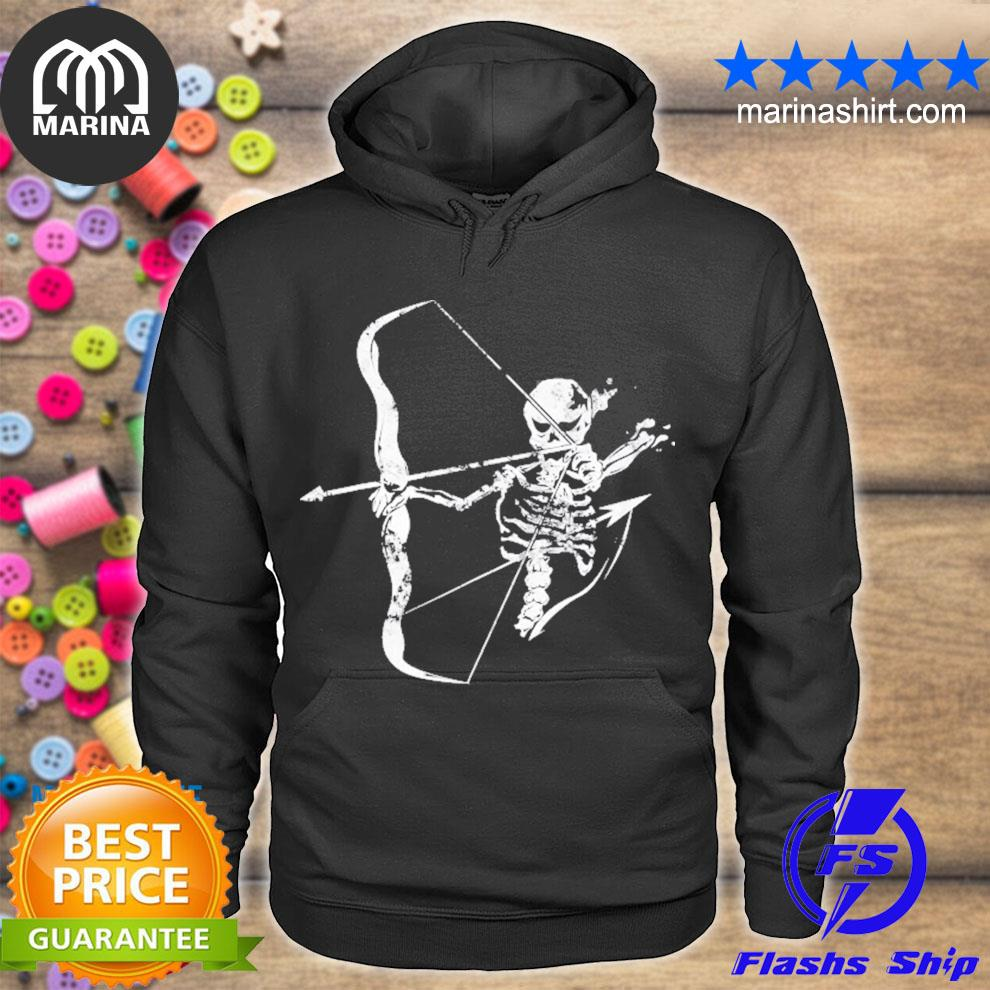 Archery skeleton skull bow hunting archer s unisex hoodie