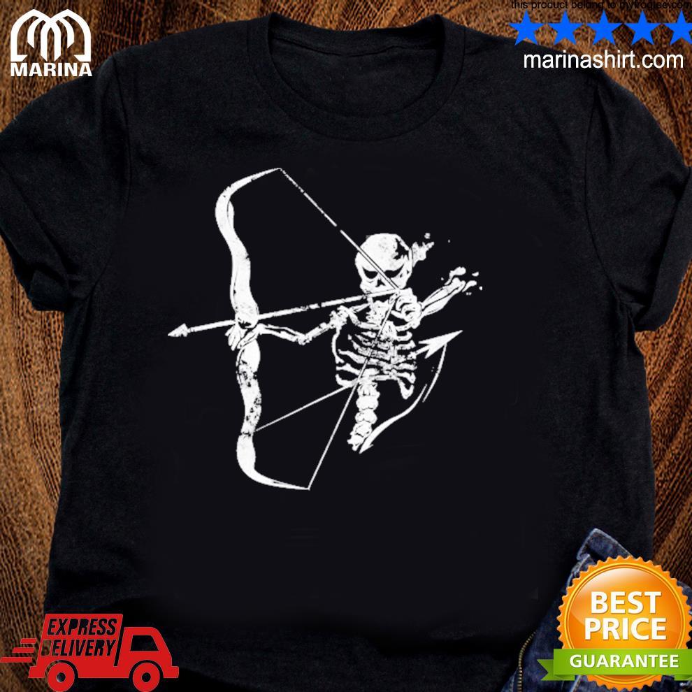 Archery skeleton skull bow hunting archer shirt
