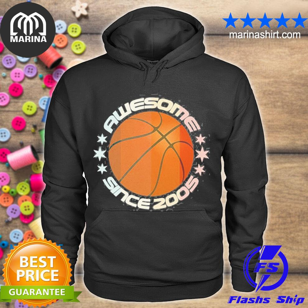 Awesome since 2005 16th birthday 16 years basketball player s unisex hoodie