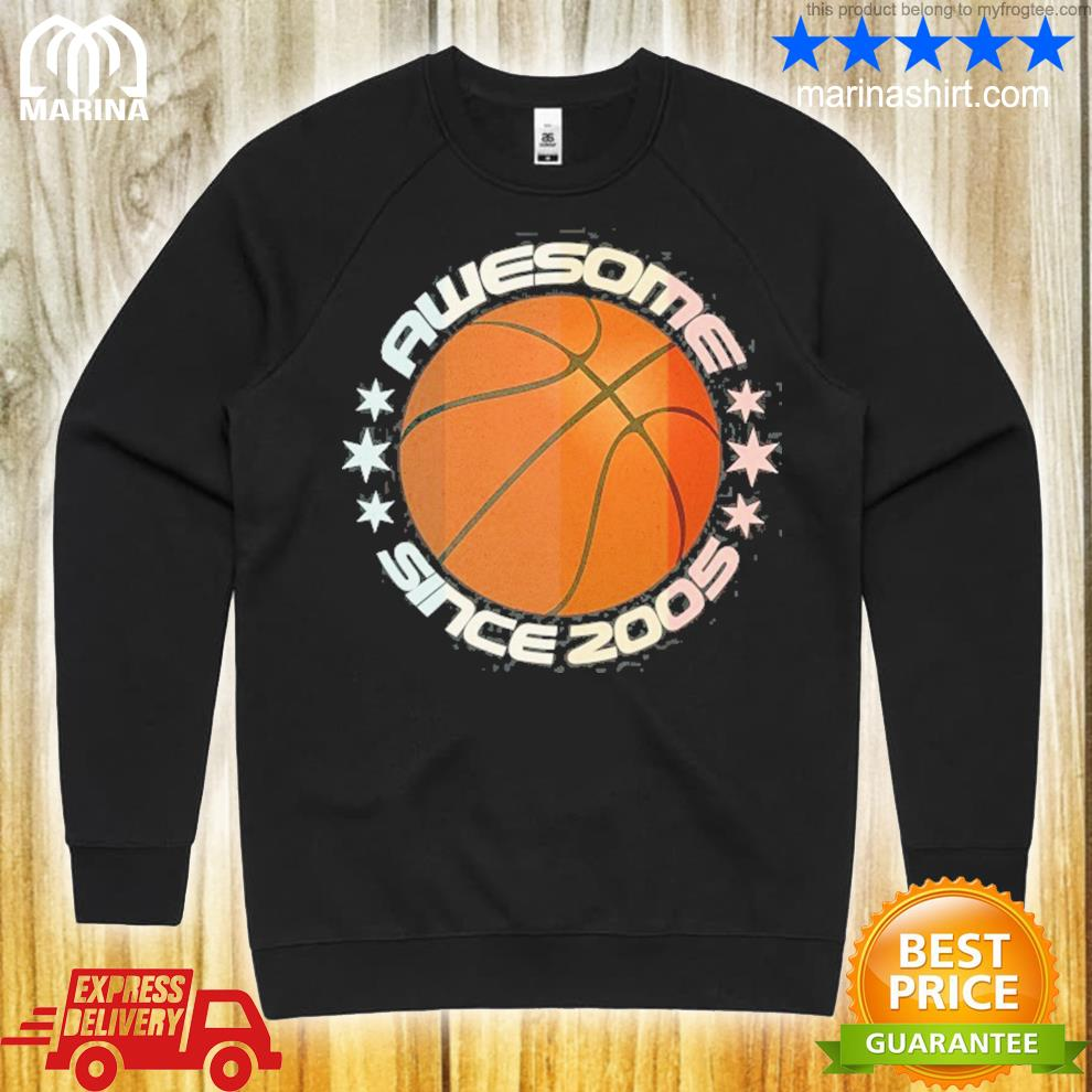 Awesome since 2005 16th birthday 16 years basketball player s unisex sweatshirt