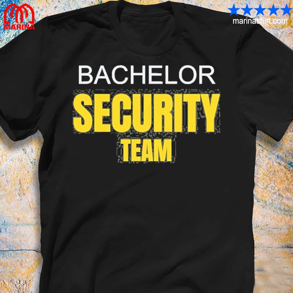 Bachelor party stag do security team funny s unisex shirt