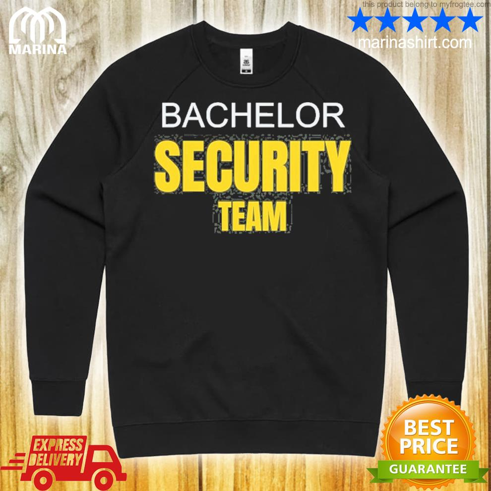 Bachelor party stag do security team funny s unisex sweatshirt