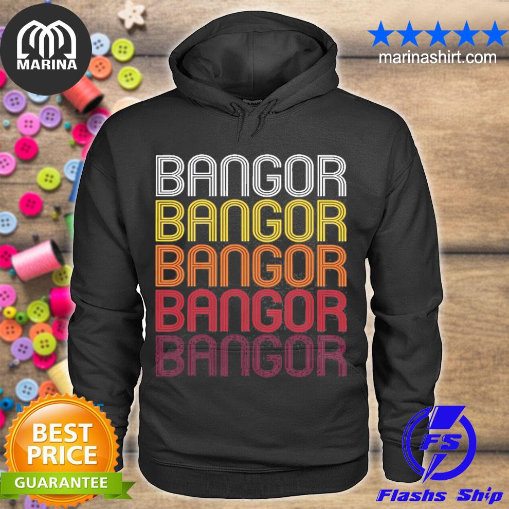 Bangor me vintage style Maine s unisex hoodie