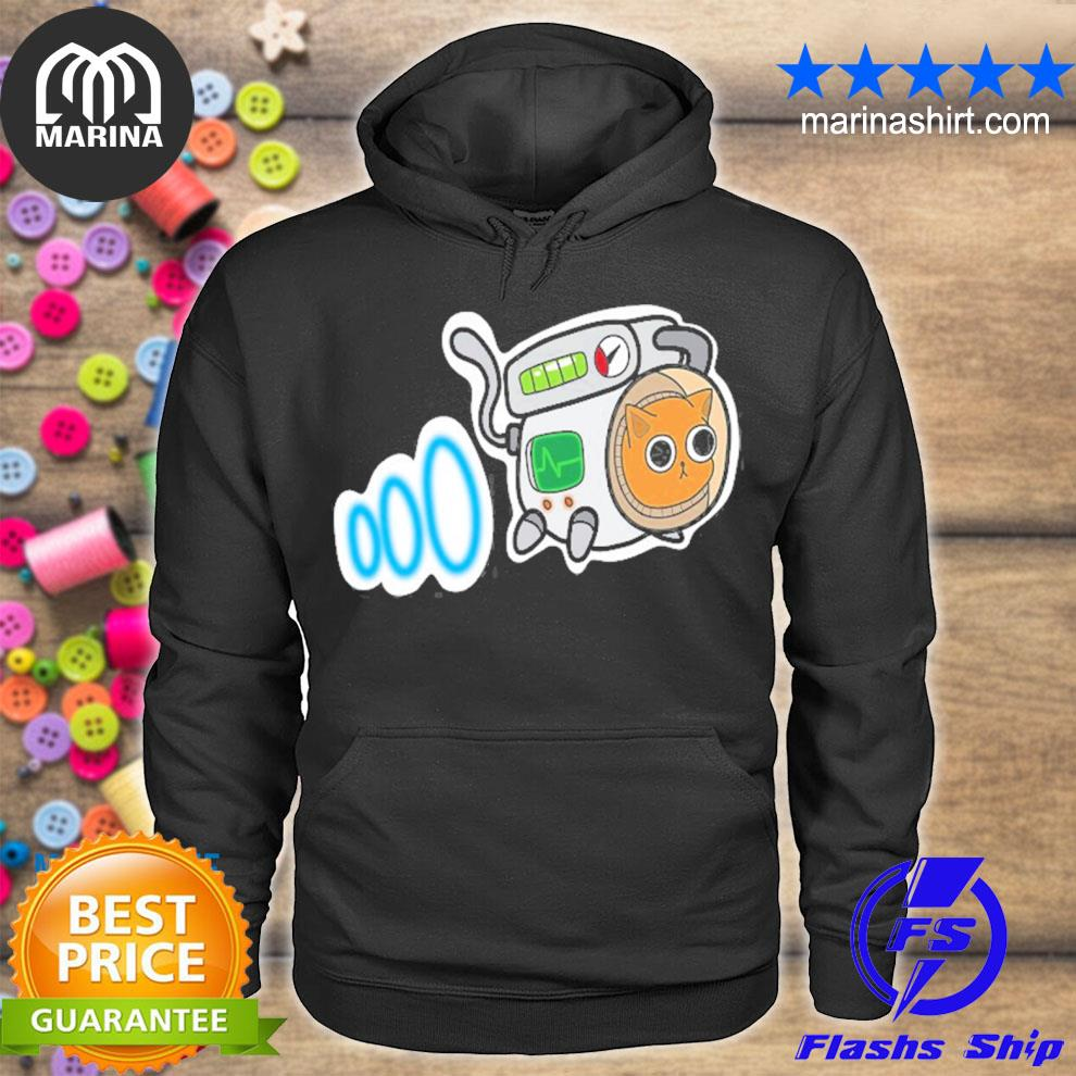 Cartoon space cat for cat lovers s unisex hoodie