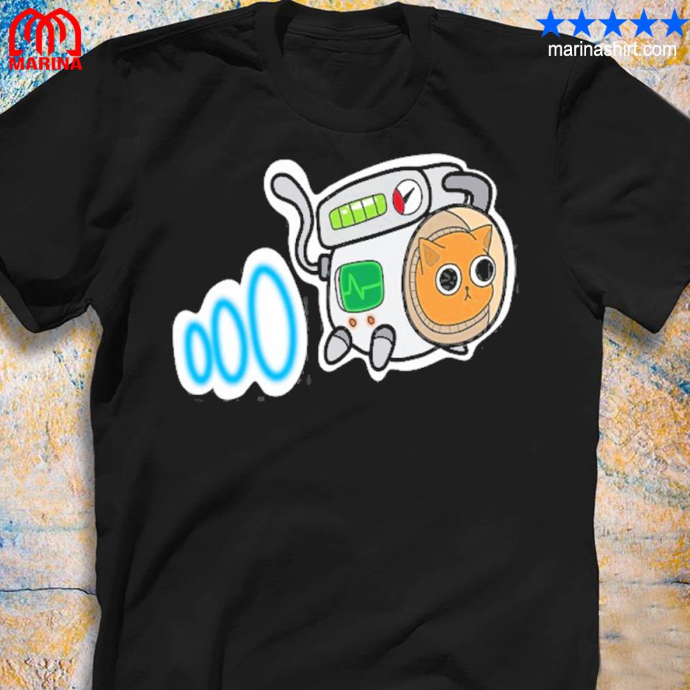 Cartoon space cat for cat lovers shirt
