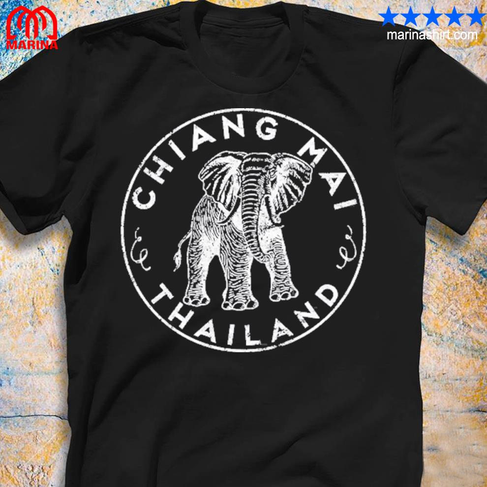 Chiang maI Thailand elephant asian travel shirt