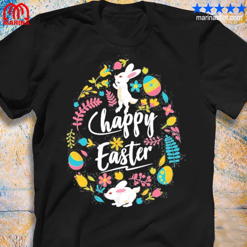 Cute bunny happy easter egg hunt hunter shirt