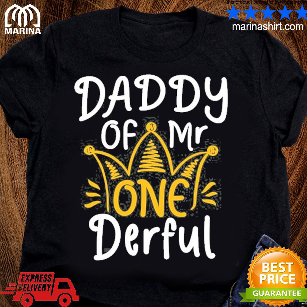 Daddy of mr onederful 1st birthday matching family s unisex ladies tee