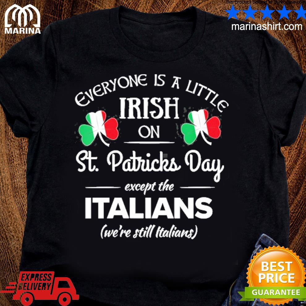 Funny italian pride irish st. patricks day italians s unisex ladies tee