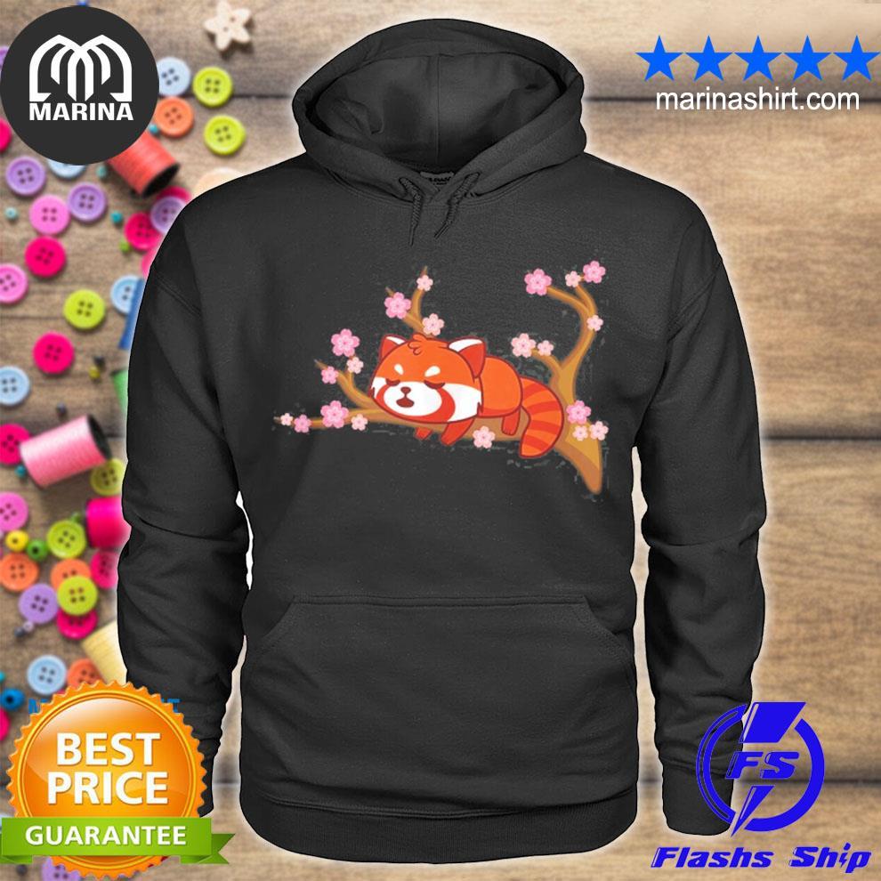 Funny red panda kawaiI japanese cherry blossom flower gifts s unisex hoodie