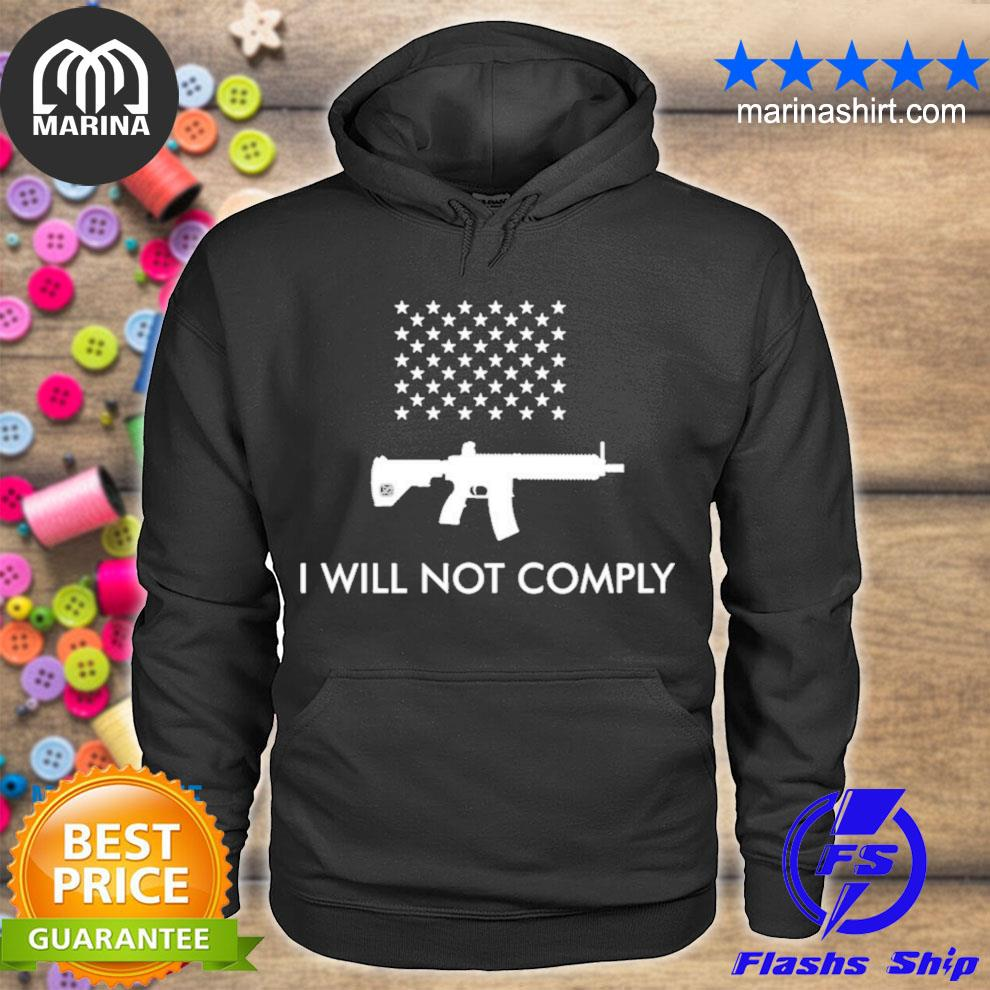 I will not comply with ar15 ban colion noir s unisex hoodie