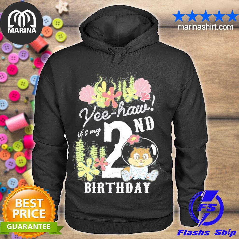 Nickelodeon spongebob squarepants sandy yee haw 2nd birthday s unisex hoodie