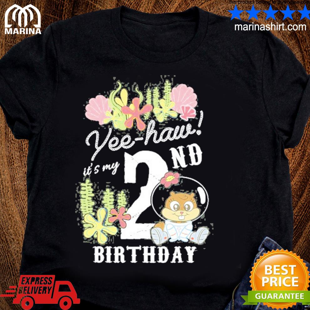 Nickelodeon spongebob squarepants sandy yee haw 2nd birthday shirt