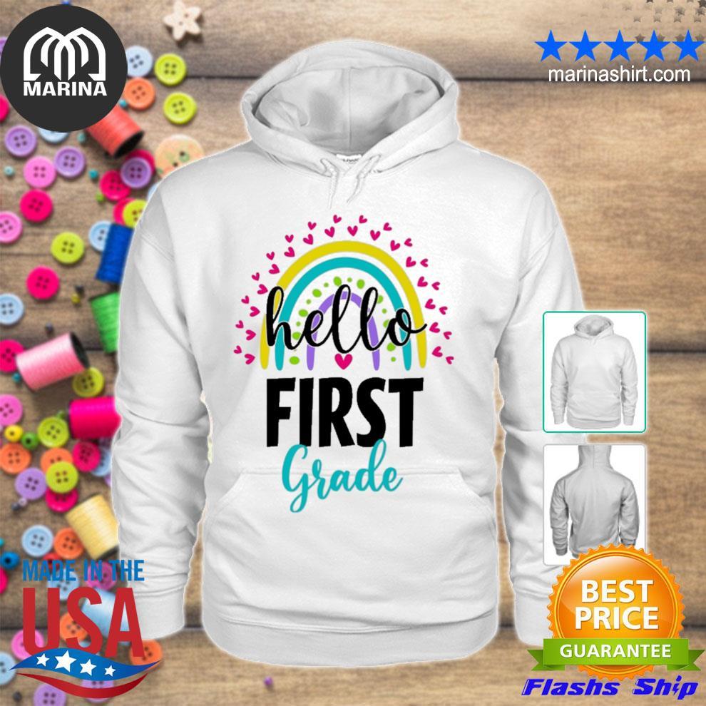 1st hello first grade s unisex hoodie