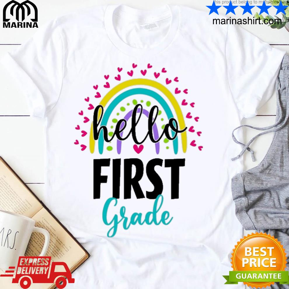 1st hello first grade shirt