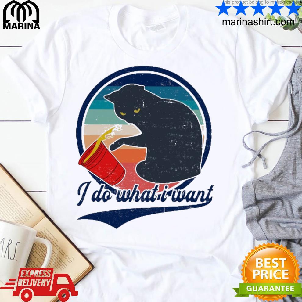 black cat do what want vintage shirt