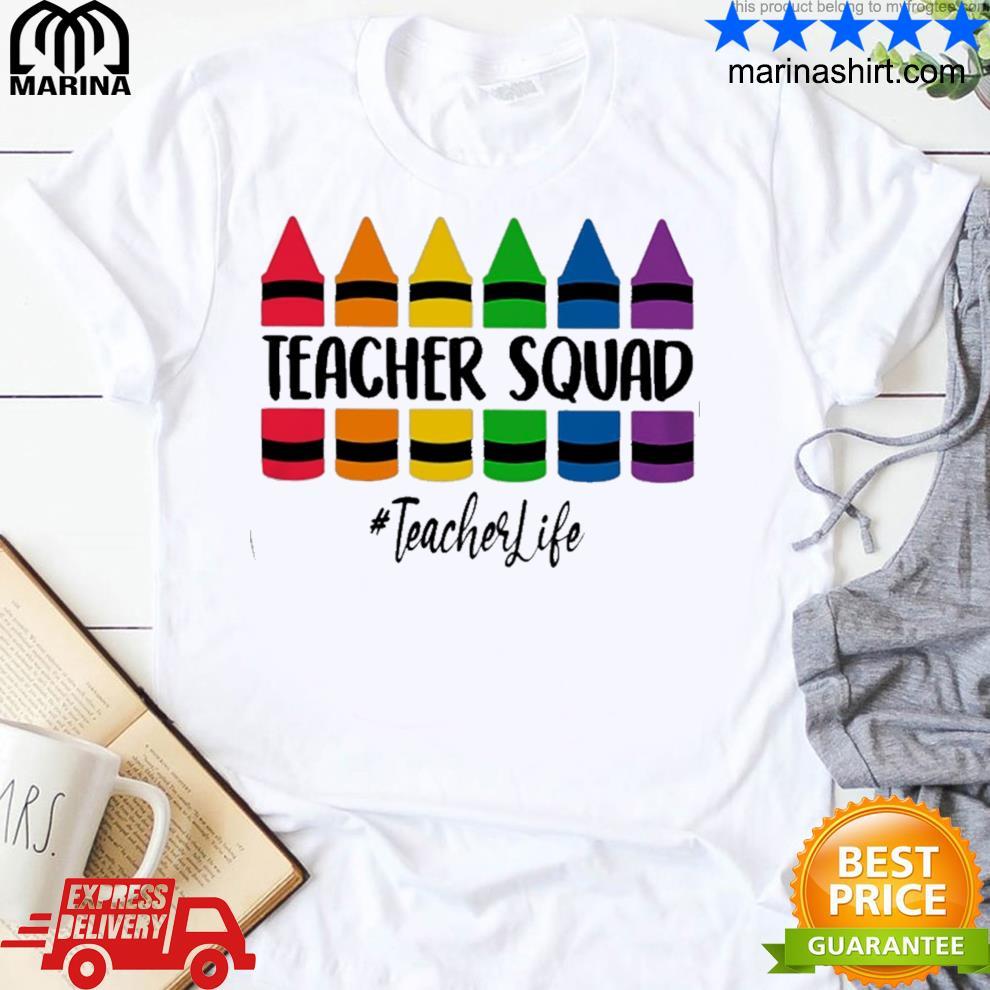 Crayon teacher squad shirt