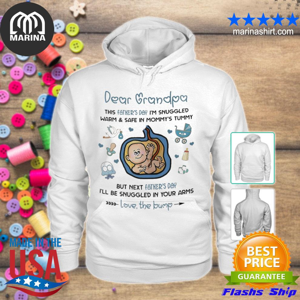 Dear grandpa I'll be snuggled in your arms t s unisex hoodie