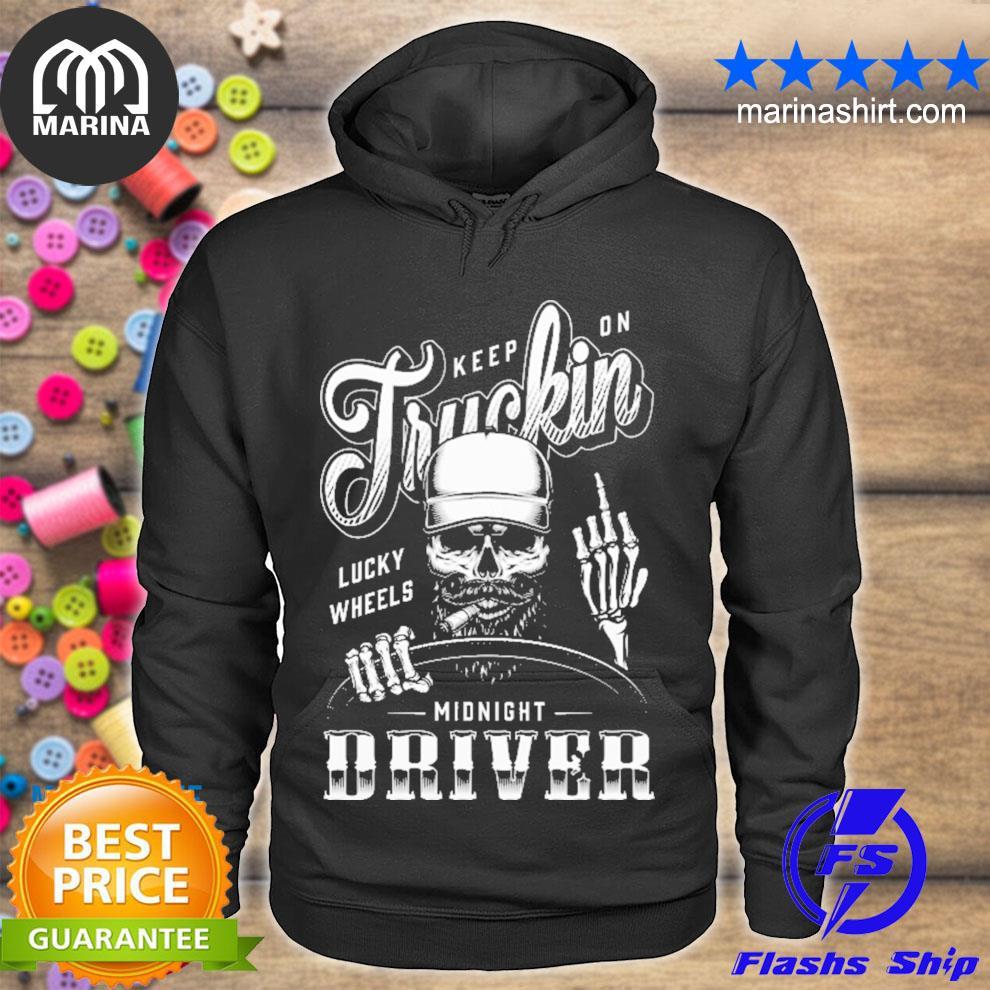Keep in truckin lucky wheels midnight rider s unisex hoodie