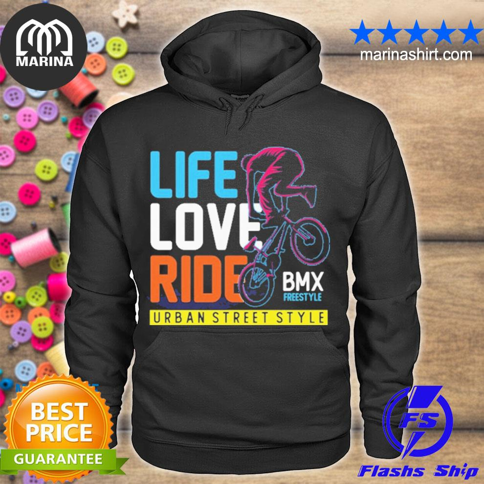 Life love ride bmx urban street style s unisex hoodie