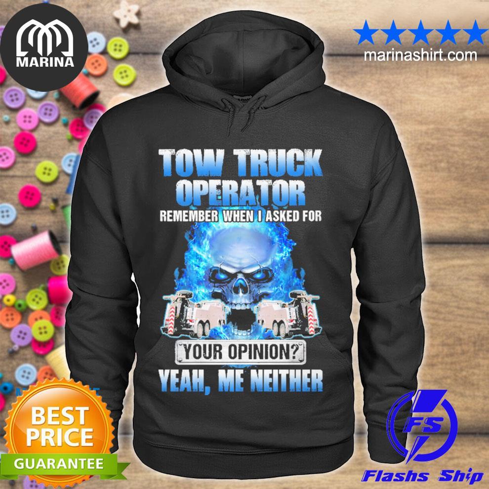 Sarcastic tow truck operator s unisex hoodie
