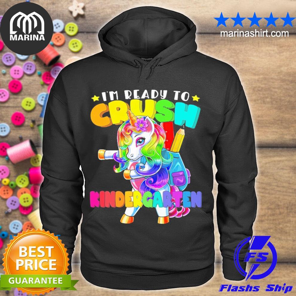 Unicorn ready to crush kindergarten youth s unisex hoodie